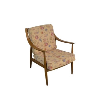 Danish Modern Mid Century Vintage Lounge Arm Chair For Sale