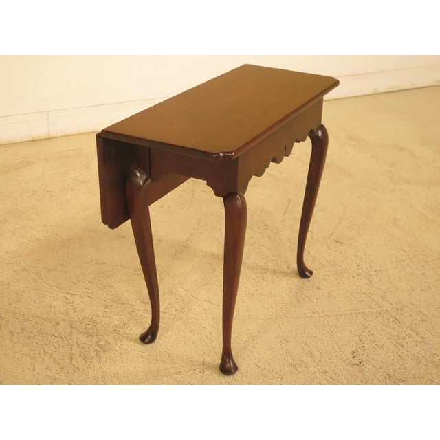 Queen Anne Kittinger Drop Leaf Williamsburg Occasional Table For Sale