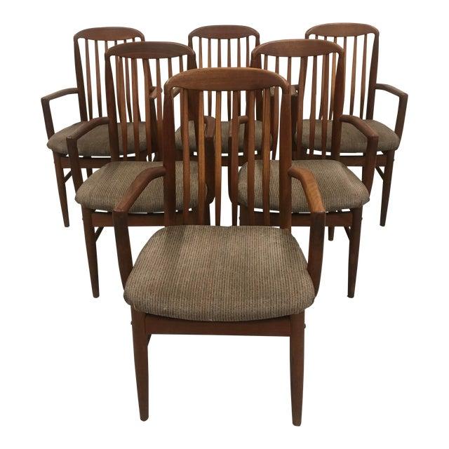 Benny Linden Mid-Century Danish Modern Dining Arm Chairs ...