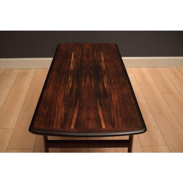 Scandinavian Modern Westnofa Rosewood Coffee Table For Sale In Monterey, CA - Image 6 of 11