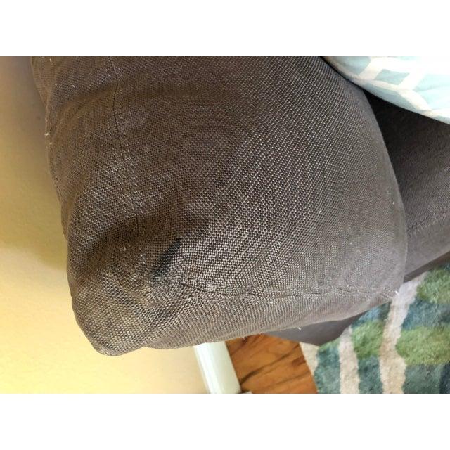 2010s Restoration Hardware Belgian Slope Arm Slipcovered Down Sofa For Sale - Image 5 of 6
