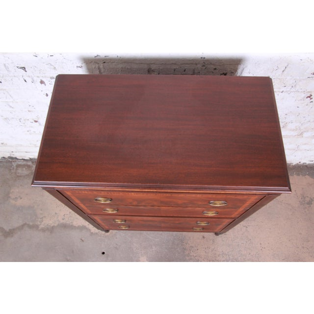 Early John Widdicomb Flame Mahogany Highboy Dresser, Circa 1920s For Sale - Image 10 of 13