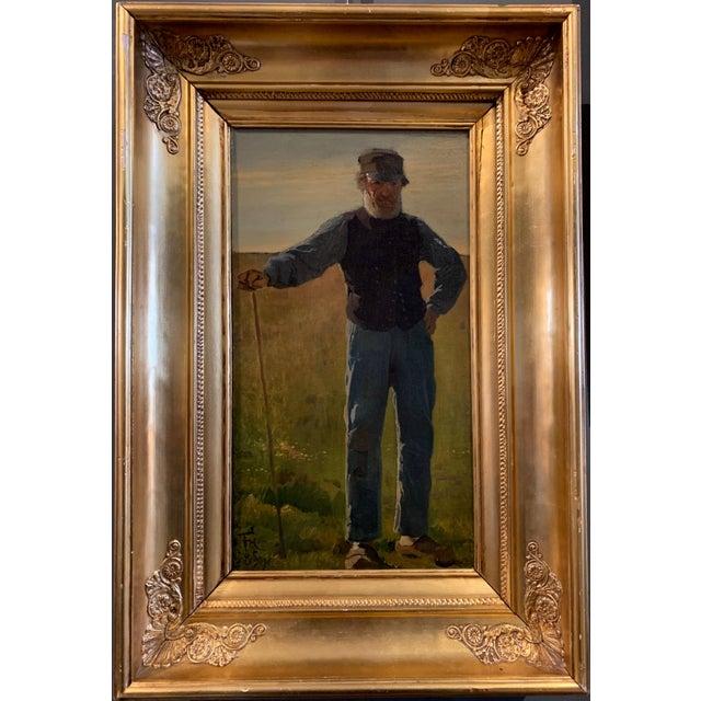 Frants Henningsen (1850-1908), Portrait of a Farmer For Sale - Image 9 of 9
