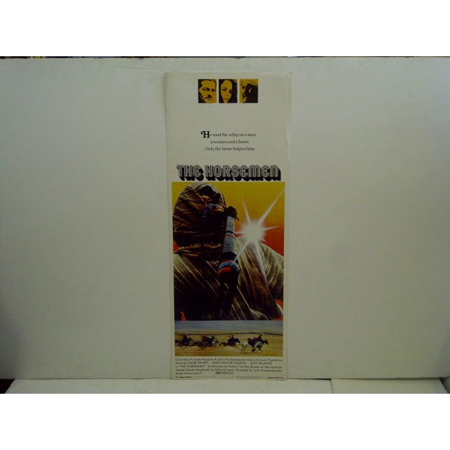 """This is a 1971 vintage movie poster of """"The Horsemen"""" starring Omar Shariff and Jack Palance. 71/135. The poster is in..."""