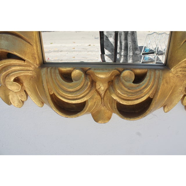 Dorothy Draper-Style Carved Wall Mirror - Image 8 of 11
