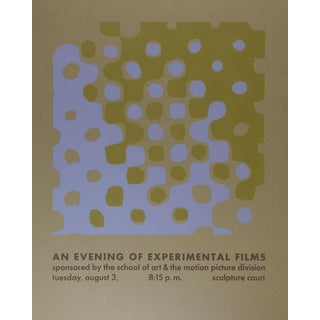 Op Art Serigraph Film Fesival Poster For Sale