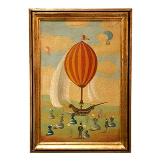 """Balloon"" Painting, Italy Circa 1950 For Sale"