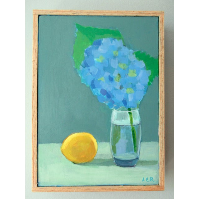 Painted from life, a lovely Hydrangea with a lemon. There's a certain beauty about the solitude of simple objects. This...