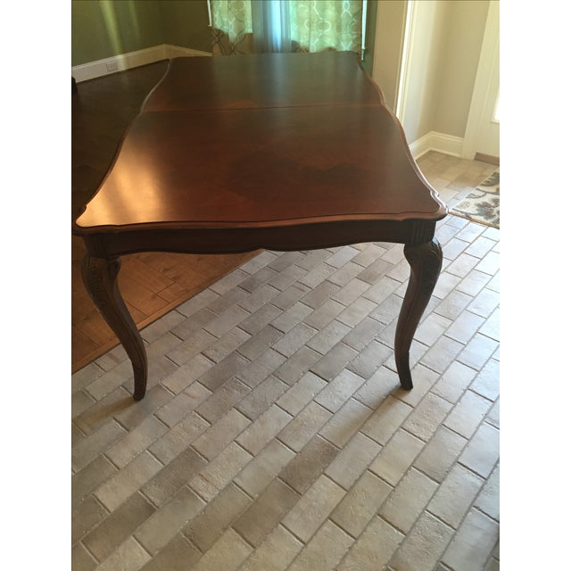 Cherry Wood Dining Room Table - Image 3 of 11