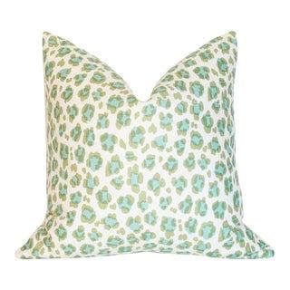 """Conga Line Moss & Aqua Pillow Cover 20""""sq"""