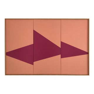 """""""Pink on Point Triptych - Jet0423"""" Original Acrylic Painting by Jason Trotter"""