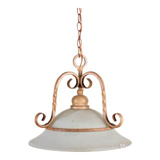 Rustic Contemporary Metal & Glass Ceiling Fixture
