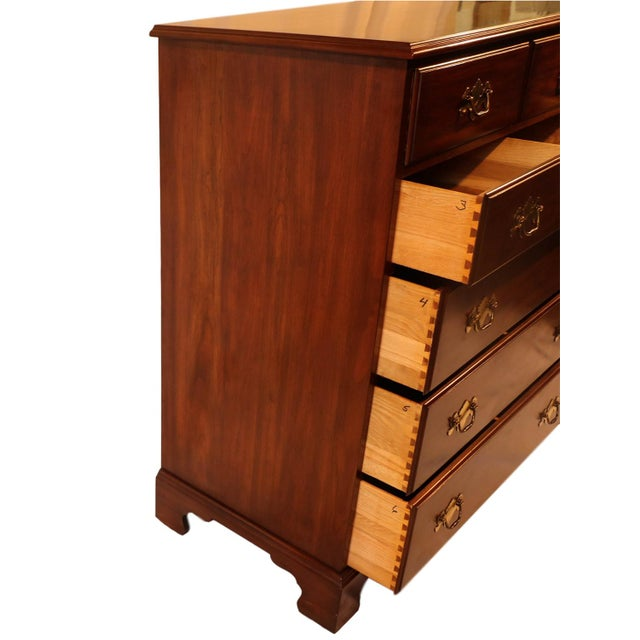 Henkel Harris Solid Cherry Tall Chest Dresser For Sale In Baltimore - Image 6 of 10