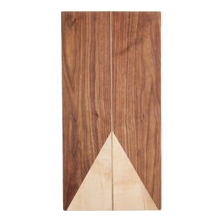 Rectangle Walnut and Maple with Brass Cheeseboard For Sale