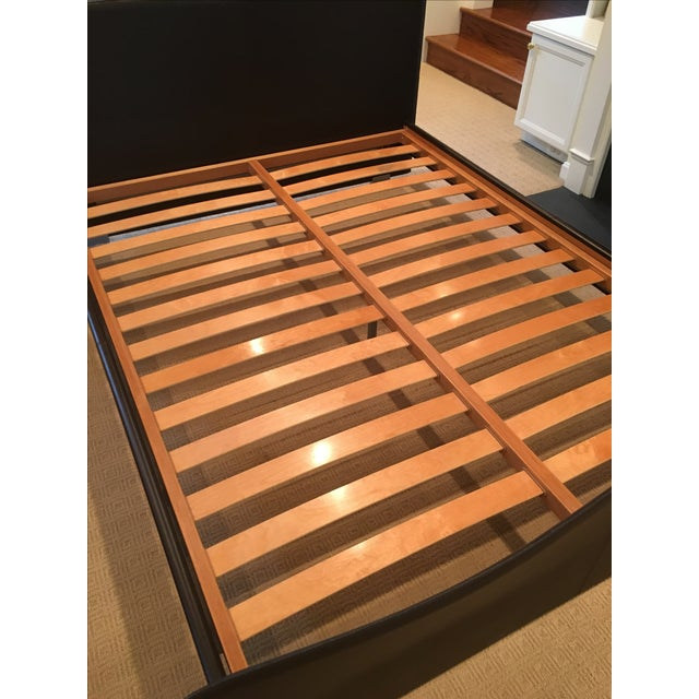 Brown Leather Platform Queen Bed - Image 6 of 9