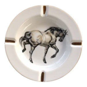 Vintage Equestrian Ash Tray For Sale