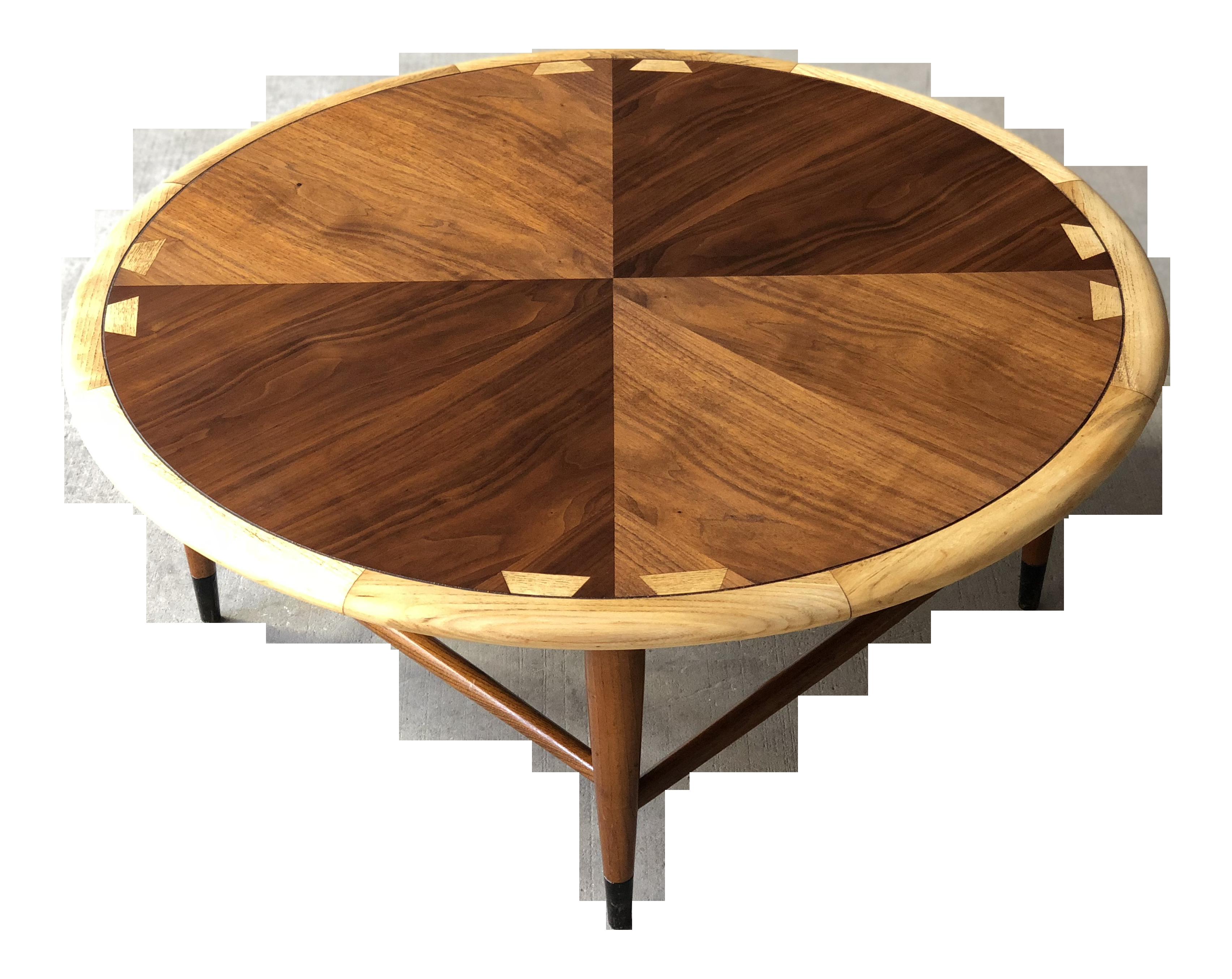 Mid Century Modern Lane Acclaim Round Coffee Table Refinished