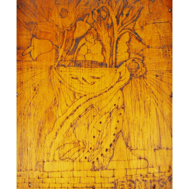 Vintage Pyrography Floral Wall Art For Sale In Philadelphia - Image 6 of 11