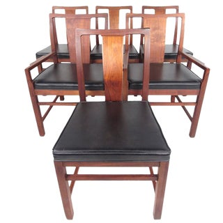 Mid-Century Modern American Walnut Dining Chairs - Set of 6 For Sale