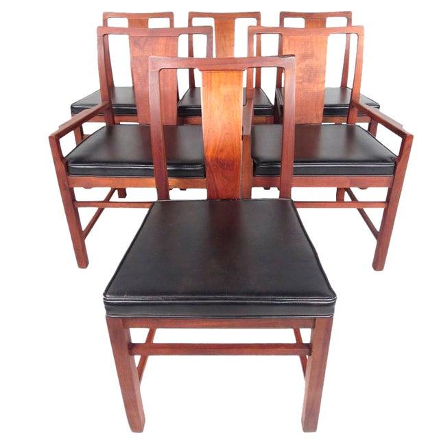 Mid-Century Modern American Walnut Dining Chairs - Set of ...