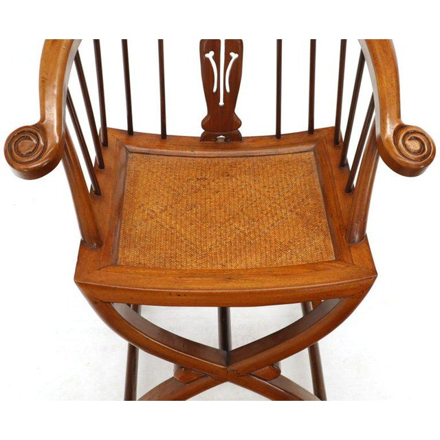 Chestnut 1970s Teak Horseshoe Back Lounge Chairs - a Pair For Sale - Image 8 of 13