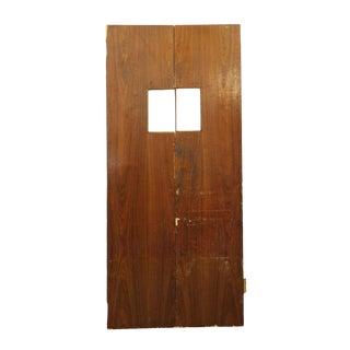 Worn Narrow Wooden Doors - A Pair