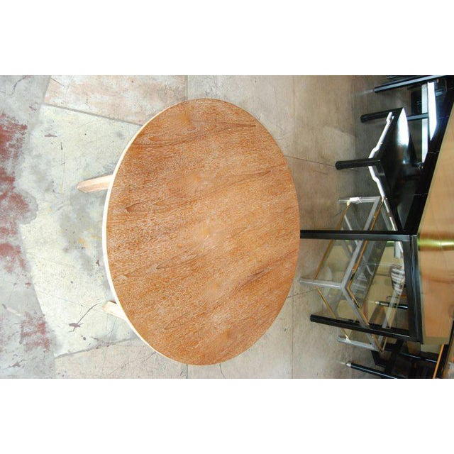 Boho Chic Edward Wormley for Dunbar Cerused Oak Coffee Table For Sale - Image 3 of 8
