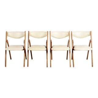 1960s Vintage Norquist Coronet Wonderfold Folding Chairs - Set of 4 For Sale