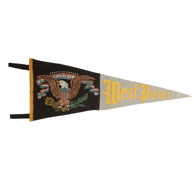 Vintage West Point Felt Flag Pennant | Chairish