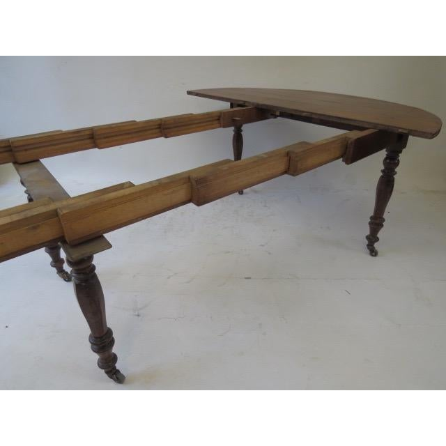 Antique Louis Philippe Dining Table - Image 6 of 8