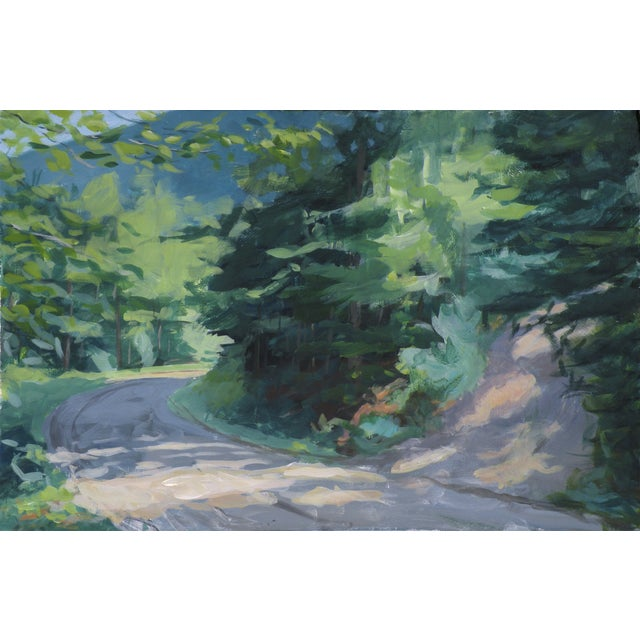 """2010s """"Vermont Mountain Road"""" Landscape Painting by Stephen Remick For Sale - Image 5 of 5"""