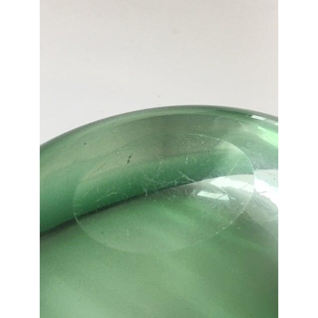 Alfredo Barbini Murano Glass Green Ashtray For Sale - Image 6 of 7