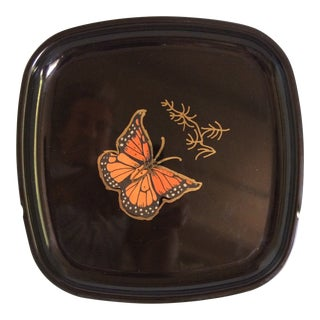 Couroc of Monterey Butterfly Giftware Plate For Sale