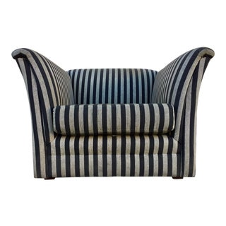 Contemporary Fluted Cube Club Chair