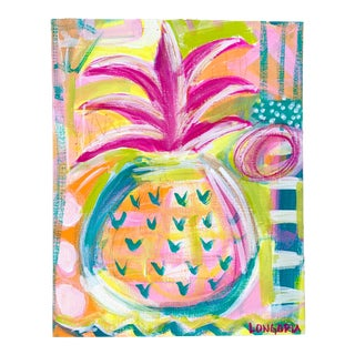 """Pineapple #7"" Abstract Painting by Christina Longoria For Sale"