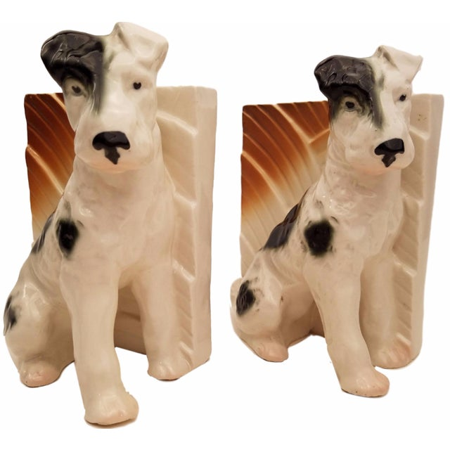 Terrier Dog Bookends - A Pair - Image 1 of 2