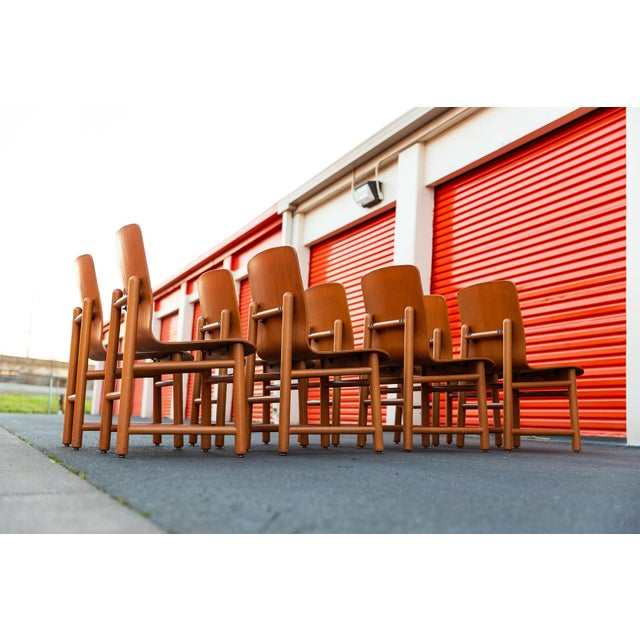Vintage Modern Moulded Plywood Chairs - Set of 8 For Sale In Sacramento - Image 6 of 11