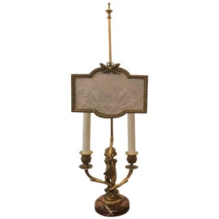 19th Century French Gilt Bronze Candelabra Lamp For Sale