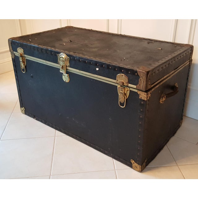 Vintage Extra Large Trunk - Image 5 of 11