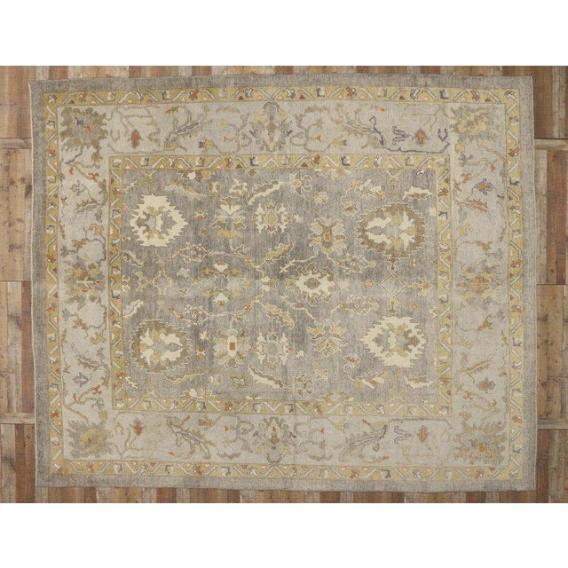 Contemporary Turkish Oushak Area Rug - 11′4″ × 13′10″ For Sale In Dallas - Image 6 of 8