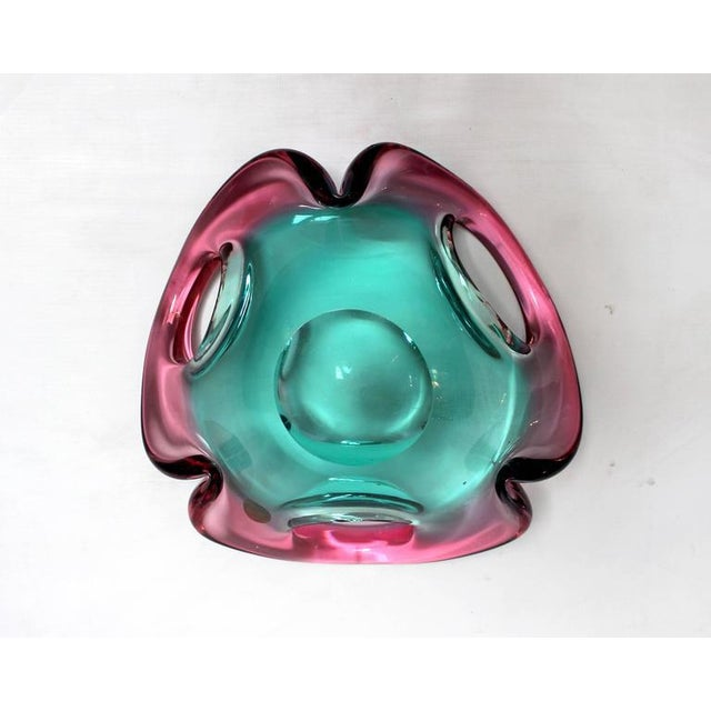 Mid-Century Sculptural Murano Glass Dish For Sale - Image 9 of 11