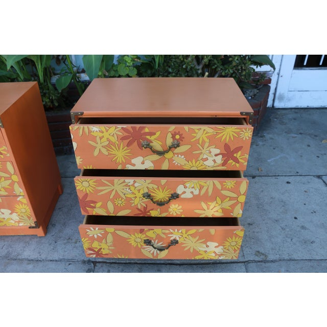 Drexel Heritage Retro Pair of Drexel Chests of Drawers For Sale - Image 4 of 10