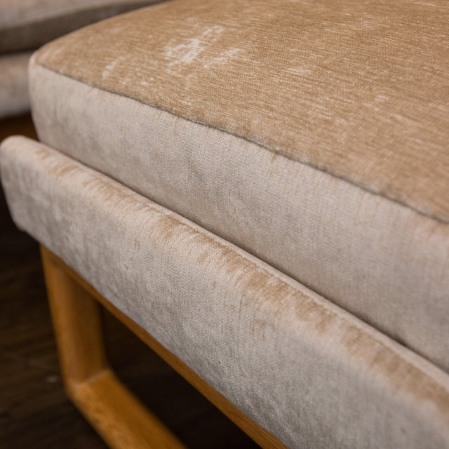 Crushed Velvet Lounge Chair/Ottoman (2 Available) - Image 8 of 8