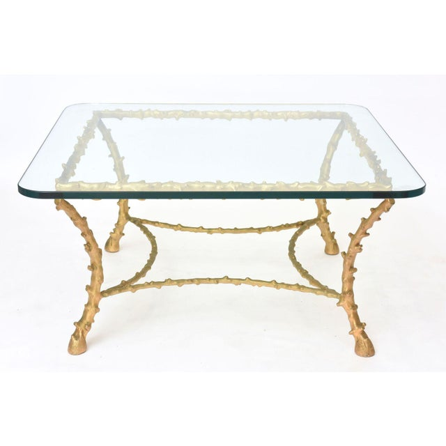 French Modern Gilt Bronze Low Table, Attributed to Maison Baguès For Sale - Image 4 of 10
