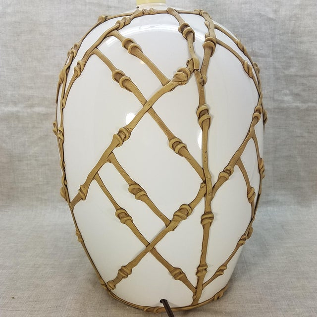 Vintage 80's Palm Beach Table Lamp For Sale In Dallas - Image 6 of 10