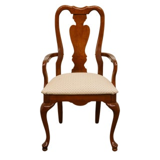 Late 20th Century American Drew Queen Anne Style Dining Chair For Sale