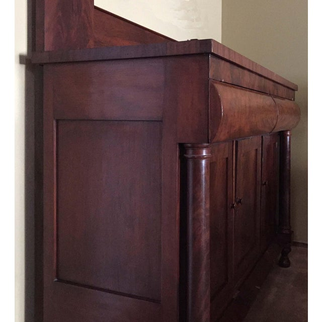 Antique Empire Style Mahogany Veneer Sideboard - Image 4 of 8