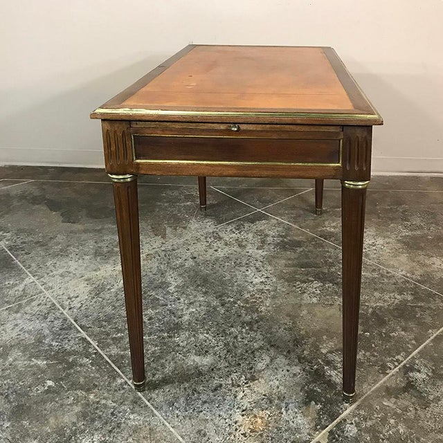 19th Century French Louis XVI Leather Top Desk For Sale - Image 12 of 13