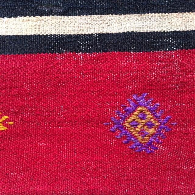 Vintage Black & Pink Kilim Pillow Cover - Image 3 of 5