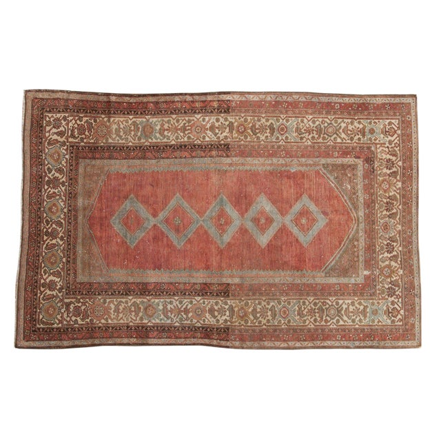 """Vintage Distressed Malayer Rug - 5' X 7'7"""" For Sale"""